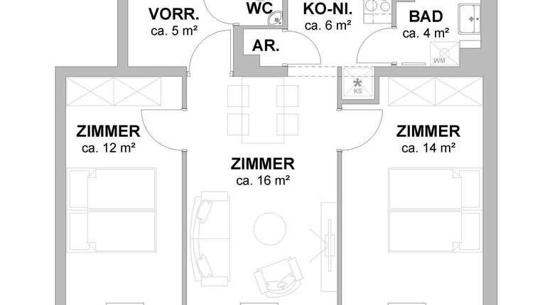 Provisionsfreie 3-Zimmer-Mietwohnung 1160 Wien
