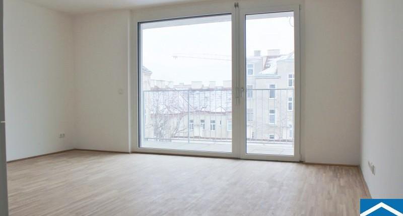 Moderne 2-Zimmern-Neubauwohnung mit großem Balkon