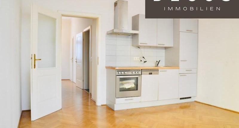 Unbefristete 1,5-Zimmer-Altbauwohnung